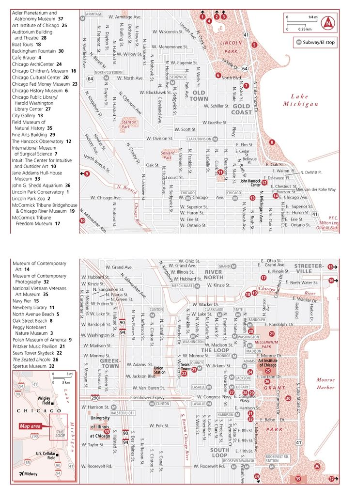Map Of Chicago Attractions  Chi Twn  Pinterest  Maps