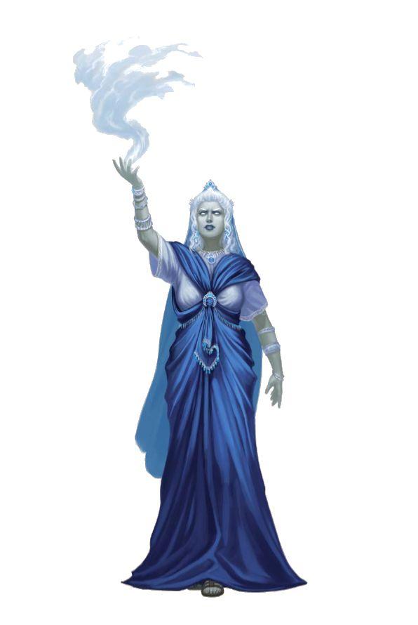 Female Cloud Giant Queen Sorcerer - Pathfinder PFRPG DND D&D d20 fantasy