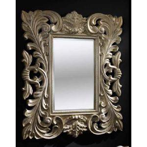 Speil+med+utskjæringer+i+tre.+Farge:+overflate+i+børstet+krem.+ $6,750.00