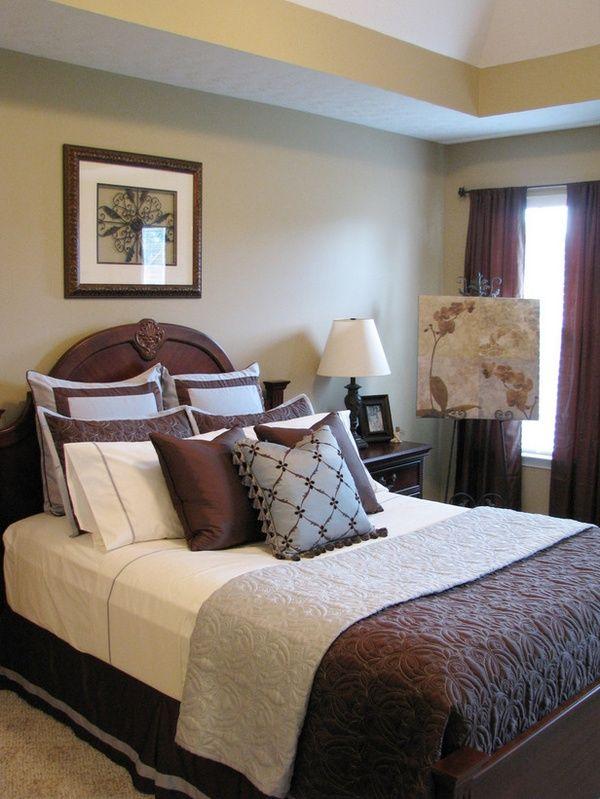 blue-brown-bedroom - living room or bathroom