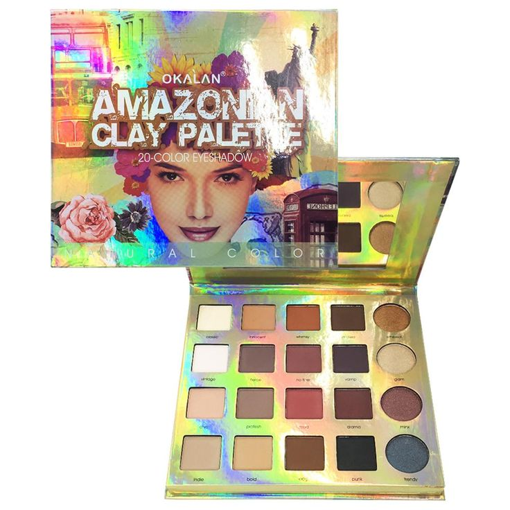 Okalan Amazon Clay Palette.  Just one look and you already know the inspiration behind the palette. I put it on my wishlist instantly!