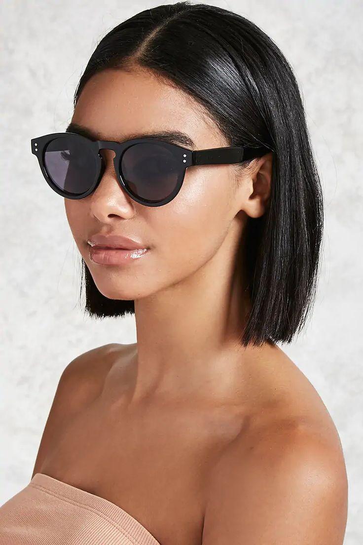 Glossy Round Sunglasses