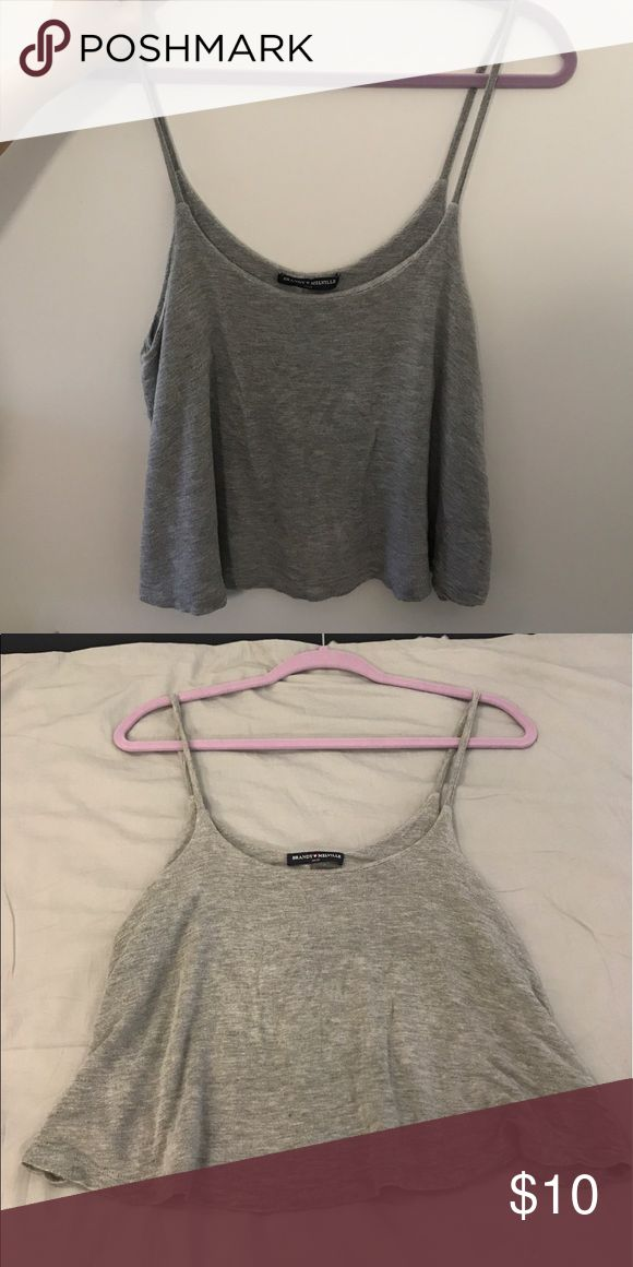 Brandy Melville Grey Strappy Top Super soft material and easy to layer with Brandy Melville Tops Tank Tops