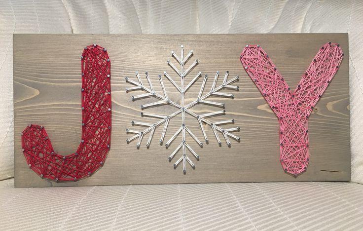 JOY String Art, Snowflake- order from KiwiStrings on Etsy! www.kiwistrings.etsy.com