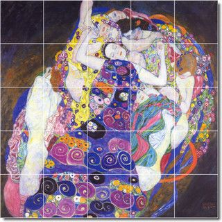 The Virgin Tile Mural By Gustave Klimt - Traditional - Tile - by Picture-Tiles