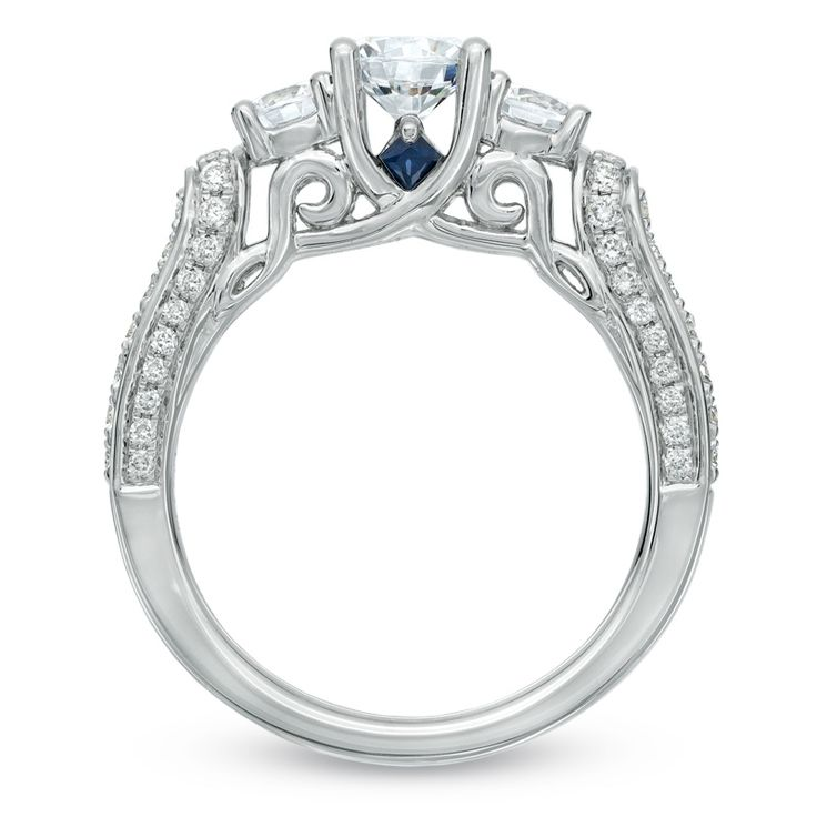 1 2 ct t w princess cut vintage style engagement