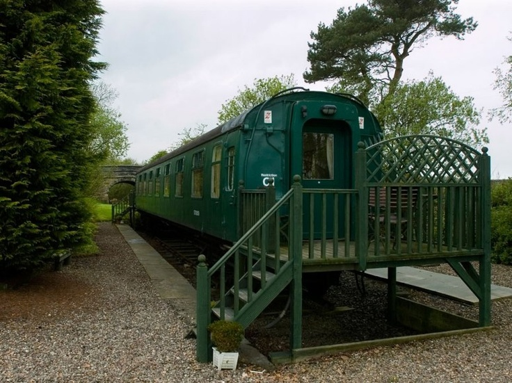 St. Andrews, England: In addition to the six en-suite rooms located within this quaint English guesthouse—formerly Stravithie Station, a Victorian railway stop—an on-site railway carriage makes room for two one-bedroom suites (which can be adjoined), each with a train platform-turned-patio.