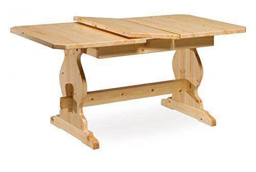 Mesa de comedor extensible de madera de pino mesa 130 x 80 cm - color miel