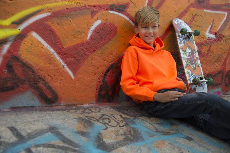 dětské mikiny Just Hoods by AWDis - JH004J in Electric Orange