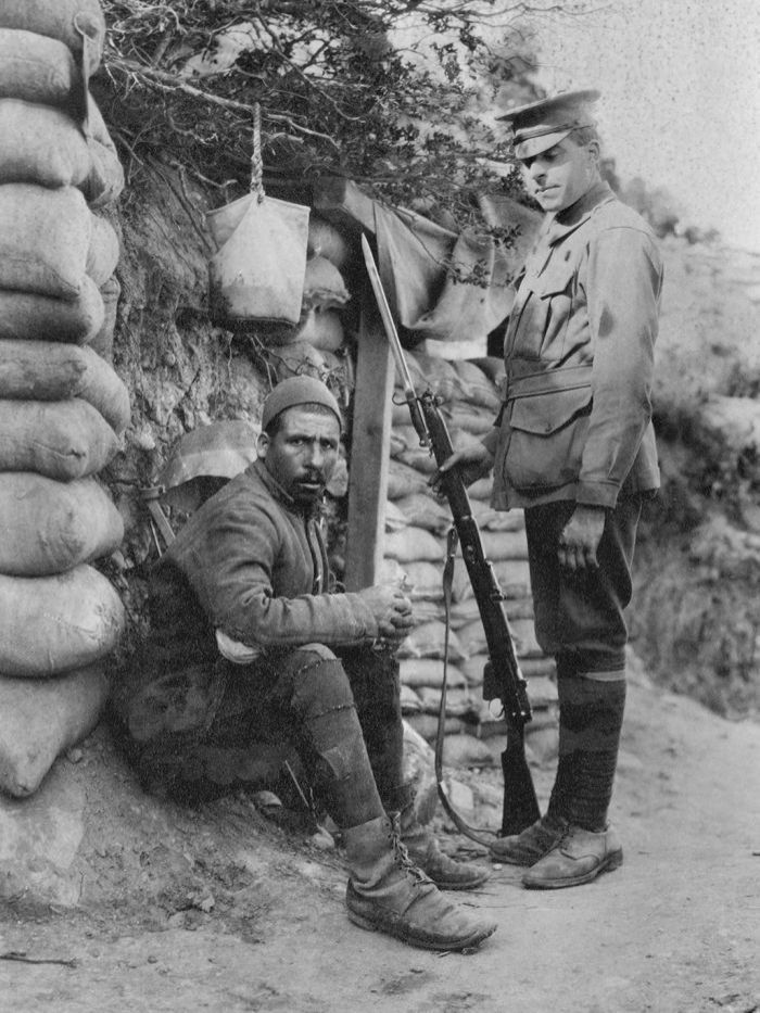 Captured Turkish prisoner, Gallipoli, July 1915.