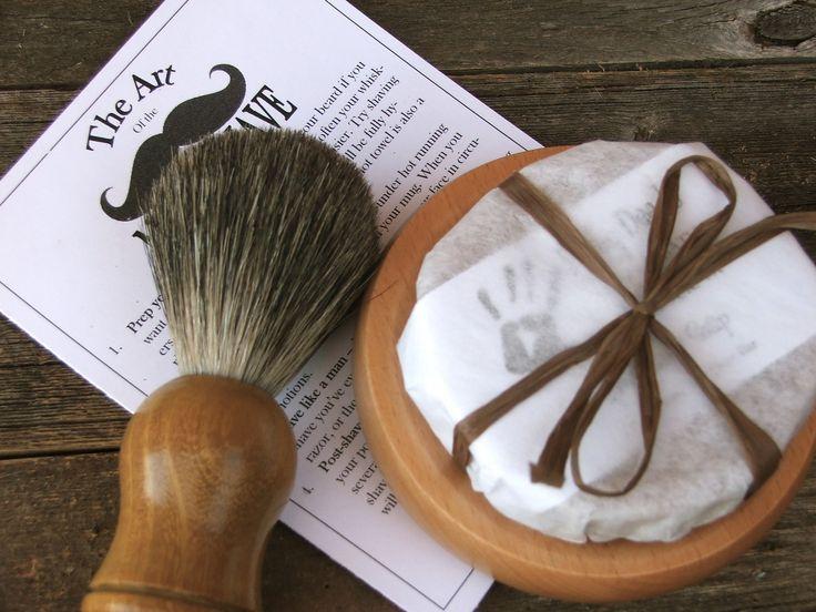 Badger Shaving Kit , For Him, Beer Soap, Handmade Soap, Shave Set, Shaving Kit. $40.00, via Etsy.