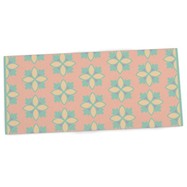 """Deepti Munshaw """"Pattern #1"""" Green Beige Desk Mat"""