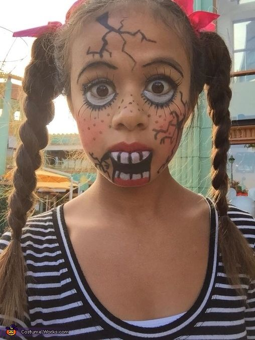 Scary Doll - Halloween Costume Contest via @costume_works