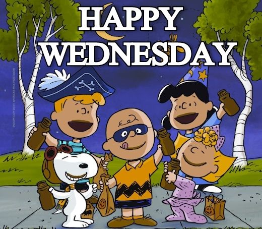 Its The Great Pumpkin Charlie Brown Quotes: Happy Wednesday