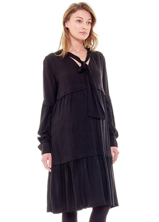 356f9c5a4a7f Imanimo - Nadia Tiered Midi Dress in Black in 2018 | Pregos/Nursing ...