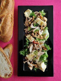 【ELLE a table】きのことブリーチーズのサラダレシピ エル・オンライン