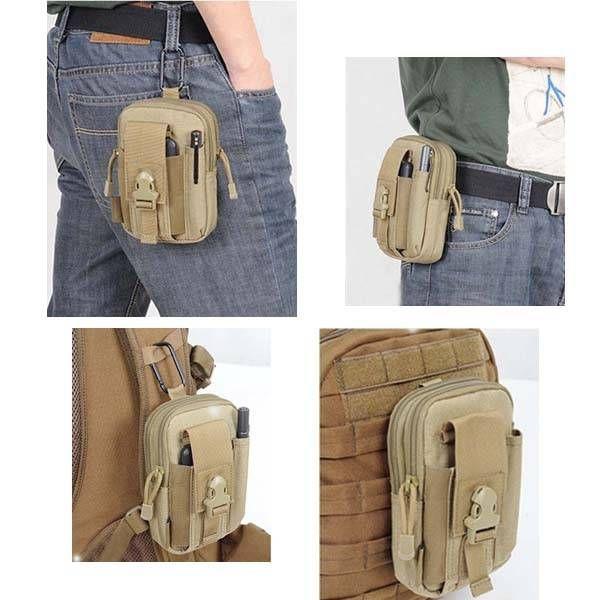 EU Direct   D30 Men's Tactical Waist Bags Outdoor Sport Saddlebag Purse Mobile Phone Case fo