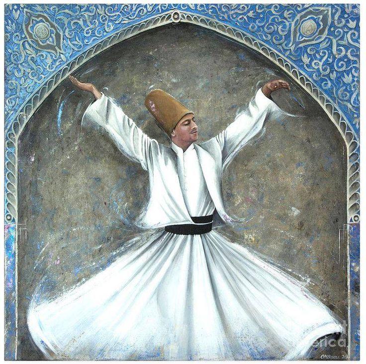 Whirling dervish. Islamic mysticism. Carol Bostan