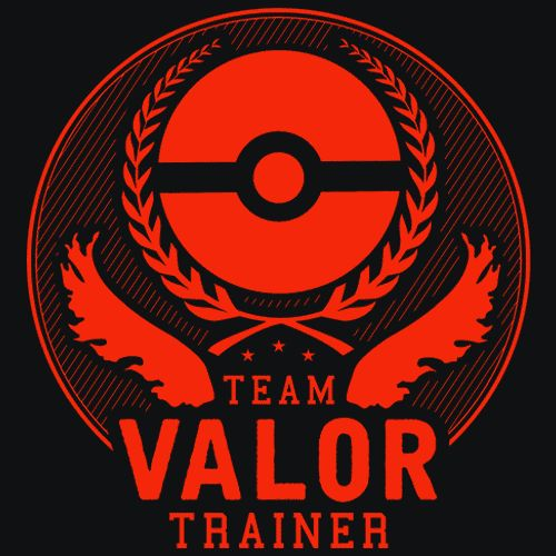 Team Valor T-Shirt - Pokemon Go Show off your love for Pokemon Go and Team Valor with an amazing screen printed t-shirt. Also available is Mystic and Instinct team shirts so if this is not for you get