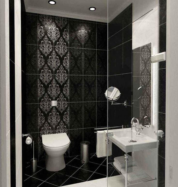 Image result for black and chrome victorian bathrooms