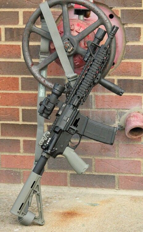 La Rue Tactical. Aim point, bcm grip, Magpul MOE stock and mag.