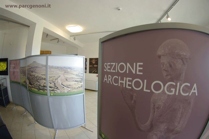 La sezione archeologica.  The archaeological section.