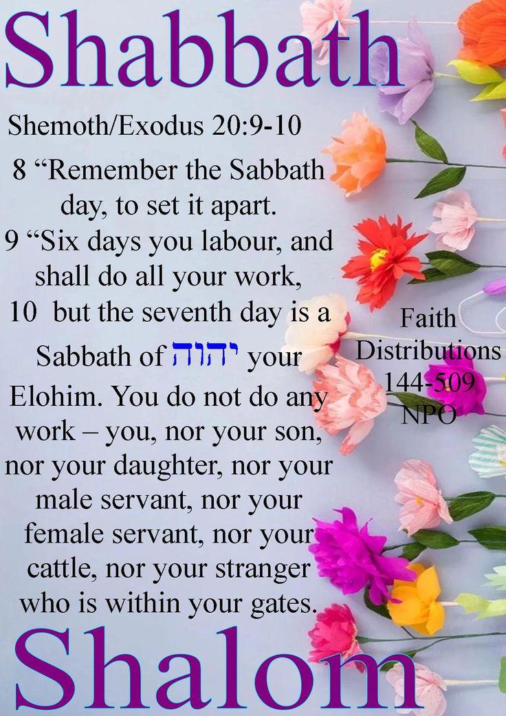 Shabbath Shalom mishpacha and chaverim! All esteem to Abba YAHWEH!
