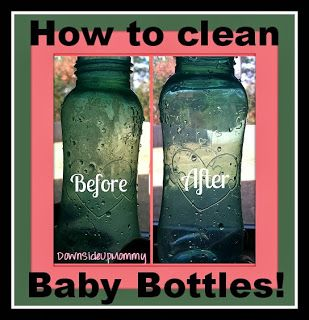Check out this effortless way to get those stubborn baby bottles clean! Another awesome use for vinegar!
