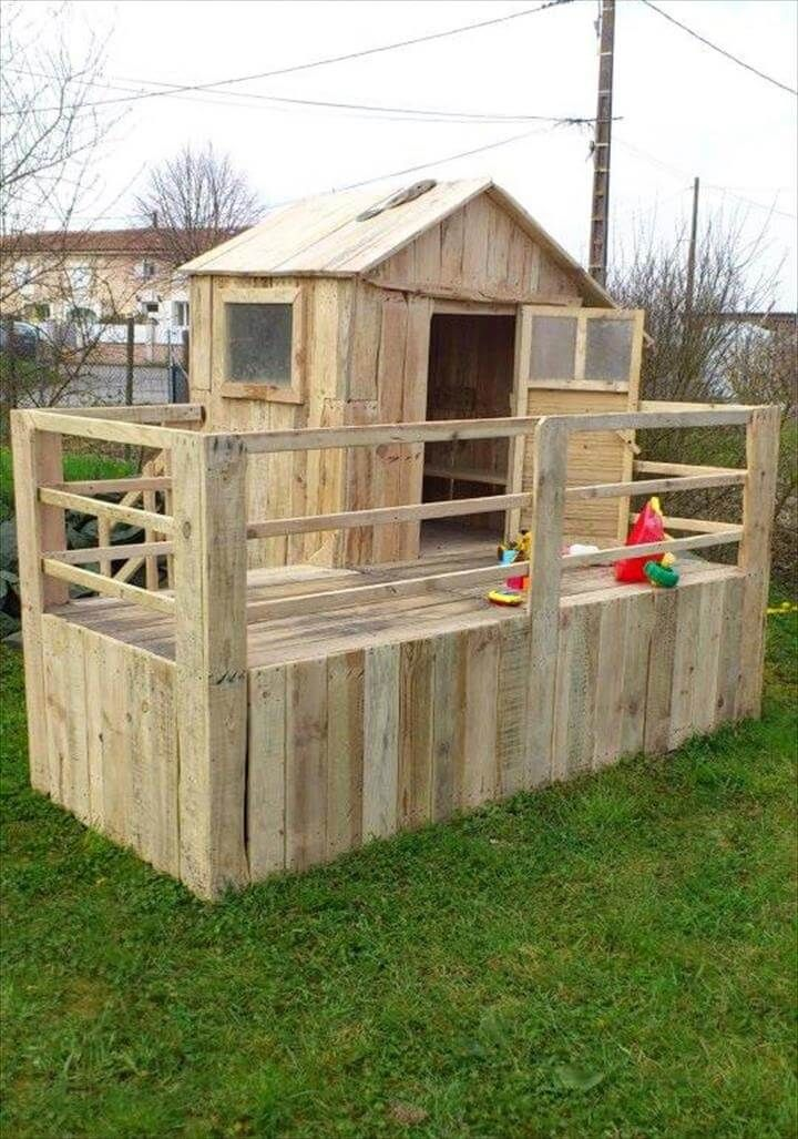 Pallet Playhouses For Kids Creativity Health Boost Boost