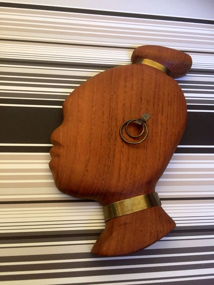 Midcentury modern/danish/teak/wooden/sculpture/wall hanging/ with brass by WifinpoofVintage on Etsy