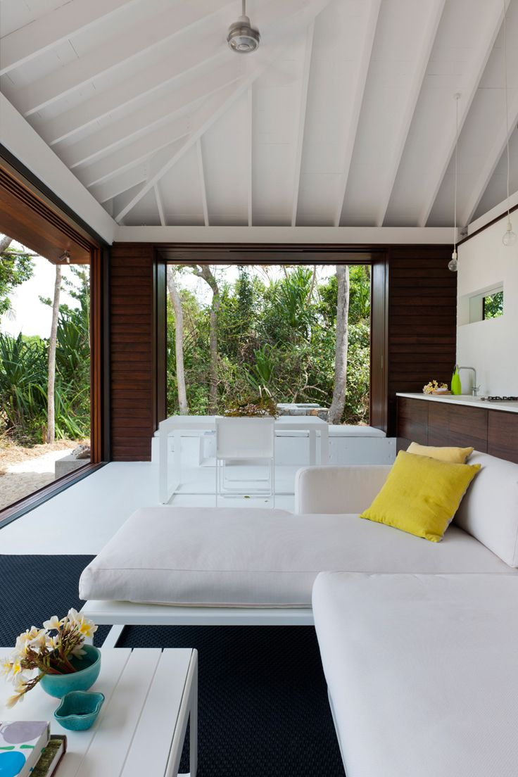 This small beach house is designed for true indoor/outdoor living