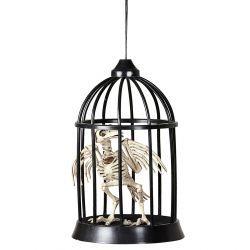 #Esqueleto de #Cuervo dentro de Jaula con Luz y Sonido  En #Mercadisfraces podrás comprar tus #disraces #originales para tus fiestas de #halloween