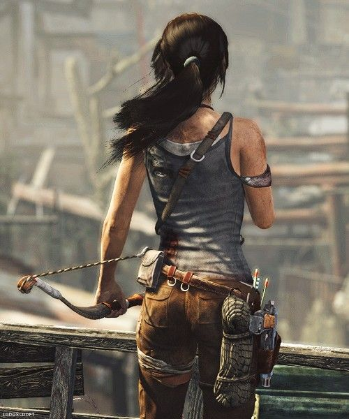 Lara Croft - back of outfit                                                                                                                                                                                 More