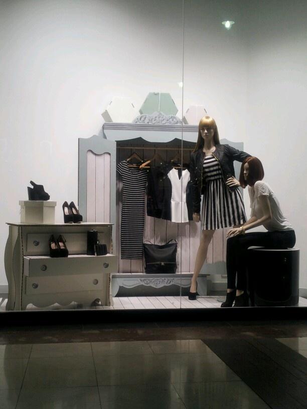shabby store display