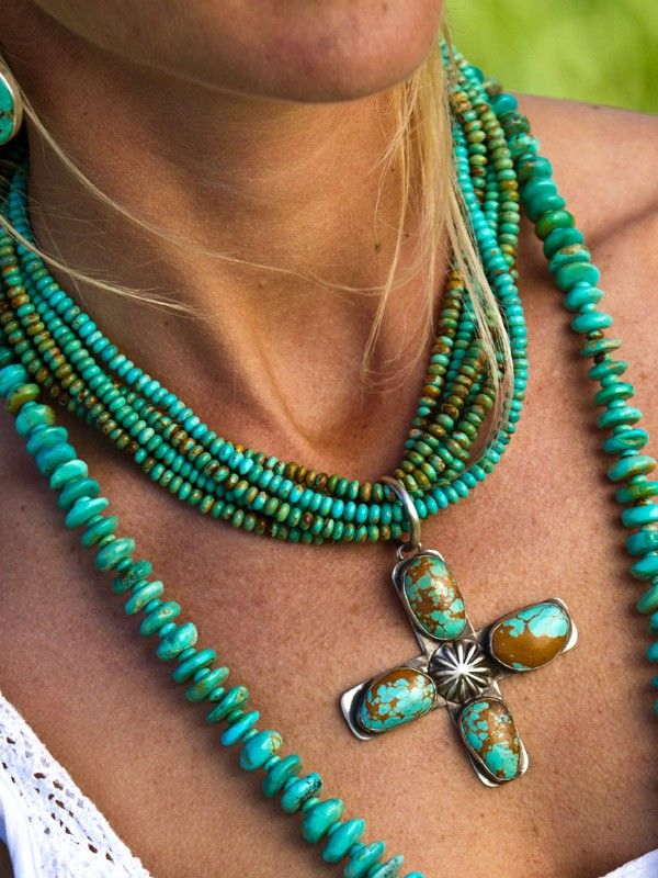turquiose;)  Love turquoise jewerly. Especially during summer.