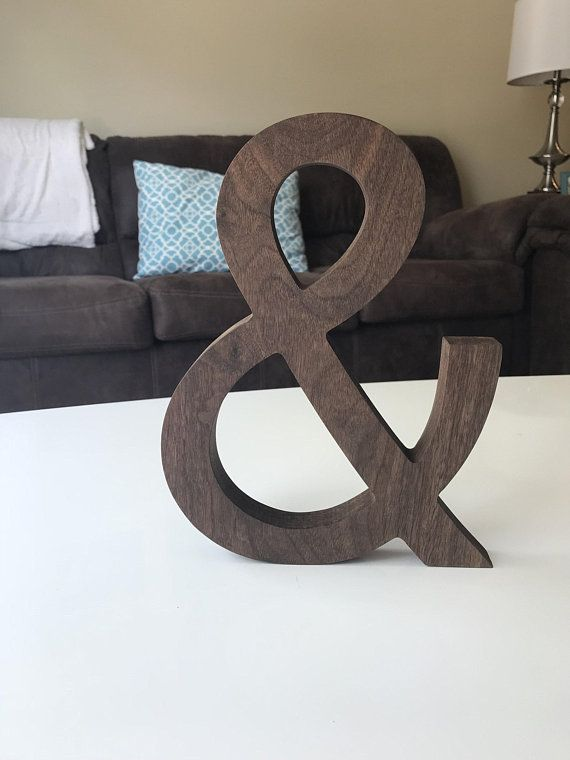 Large Wooden Ampersand Wall Decor Wall Decor Decor Room Decor