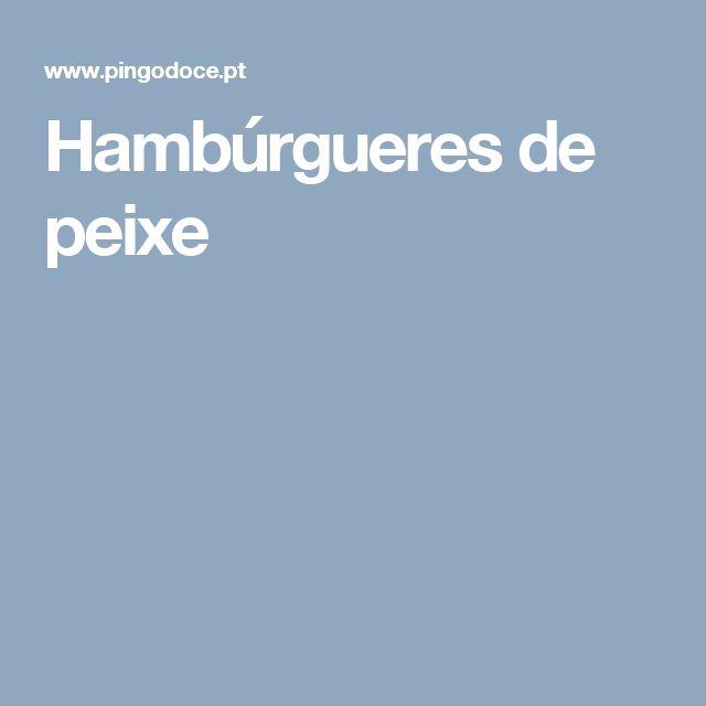 Hambúrgueres de peixe