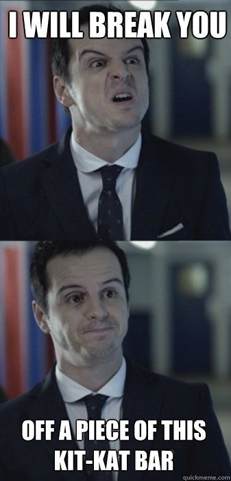 Misleading moriarty. #Sherlock  hahaha I love this meme. Oh Moriarty #favouritevillain