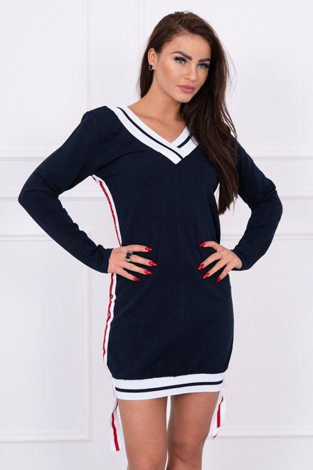 a4ed06db5e69 Športové šaty s v-čkovým výstrihom granátové