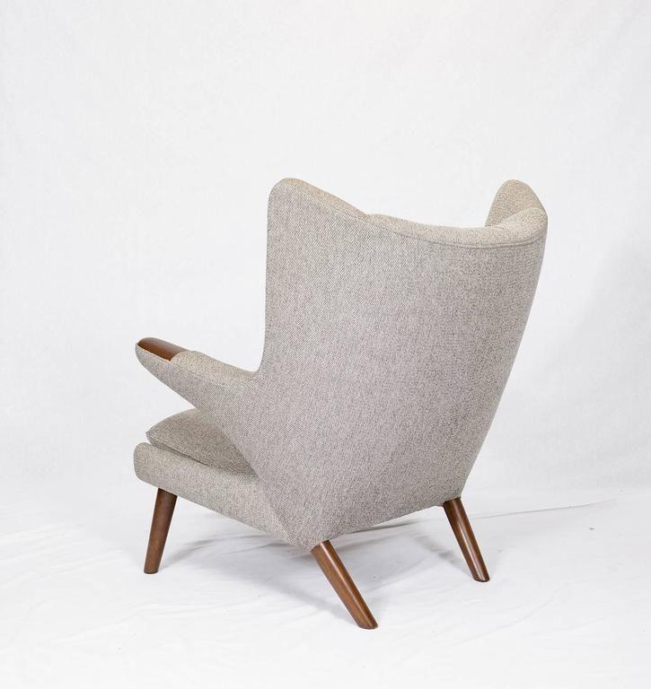 "Hans Wegner ""Papa Bear"" Chair and Footstool 6"
