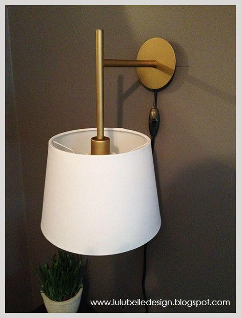 Lulu Belle Design: DIY IKEA SCONCE HACK For My Bedroom