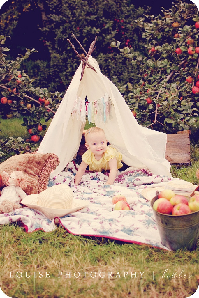 Outdoors baby photo