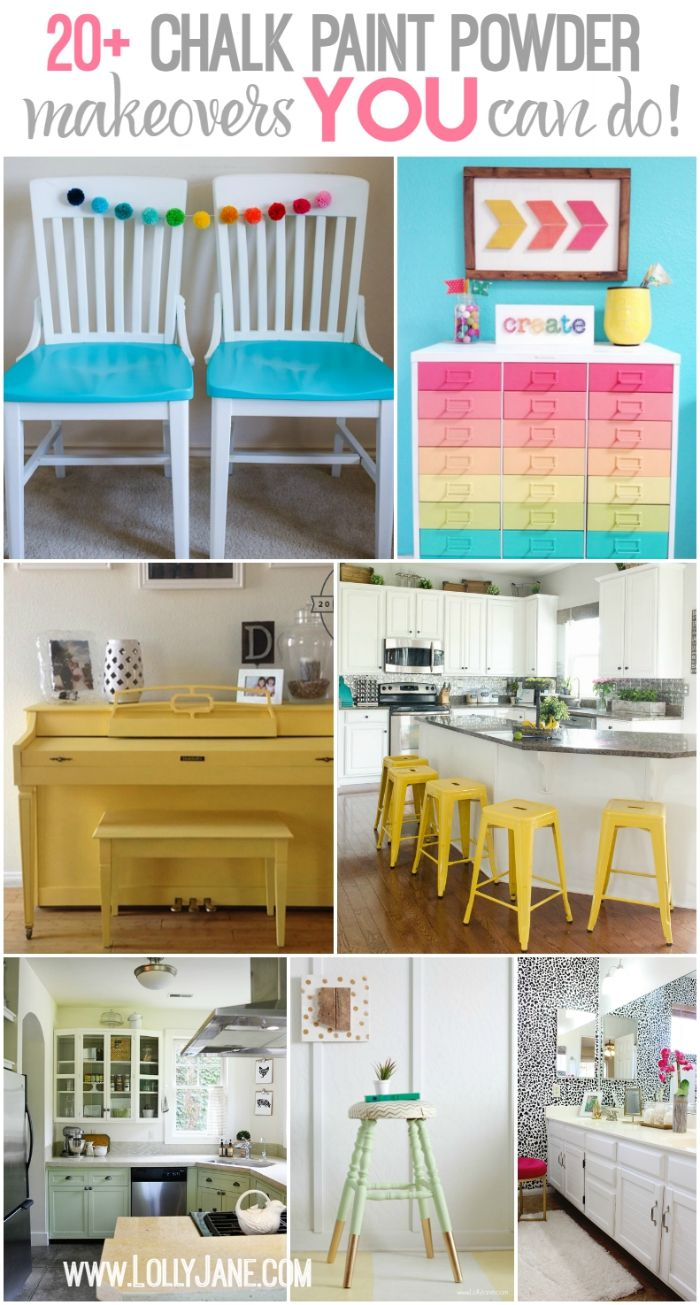 20+ BB Frosch chalk paint powder makeovers. LOTS of ideas YOU can do, really! All of these projects are completed by non-professionals, easy before/after home decor and furniture ideas!