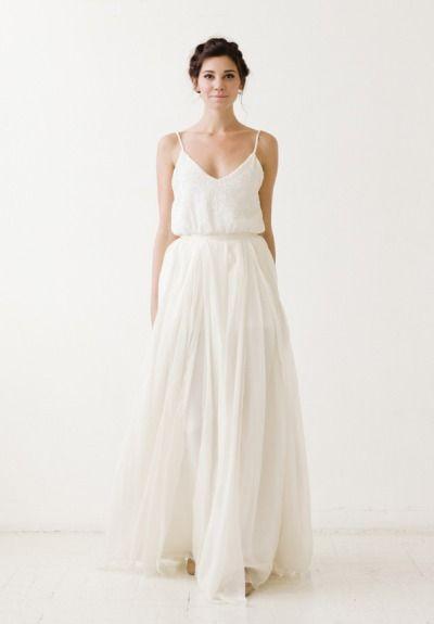 skirt and silk top. wedding separates. https://www.pinterest.com/Yeshuaschild/