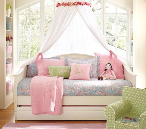 Girls Daybed Amp Canopy For Room Pottery Barn Kids In Bedroom Sets Decorating