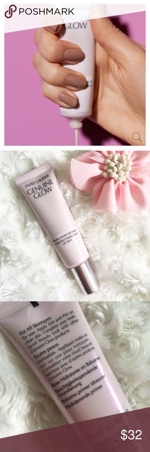 RESTOCKED!! Estée Lauder Primer RESTOCKED!!🎀 NWT Estée Lauder Genuine Glow Priming Moisture Balm. Innovative water fusion formula perfects, primes, weightlessly hydrates. Skin feels fresh, smooth with a shine-free glow.  With daily use, this balm:  • Refines texture  • Evens skin tone  • Minimizes pores. It primes and perfects skin so makeup goes on easily, or it can also be used on its own for its key skincare benefits. Apply AM and PM before applying makeup💋 Reasonable offers only please…