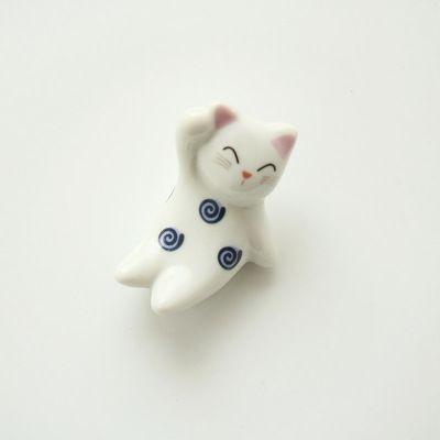 Dipinto a mano in ceramica piccolo animale gatto bacchette stand titolare tavolo da pranzo piccola decorazione accessori regalo fresco in                                                                                                                   da Bacchette su AliExpress.com | Gruppo Alibaba