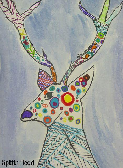 Kids Art: How to Draw a Deer | Spittin Toad: Kids Art: How to Draw a Deer