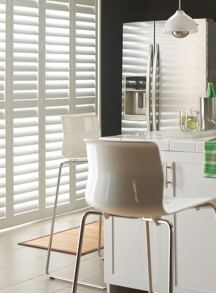 Luxaflex® interior shutters have a classic style in long lasting finishes.  Combining superb design with timeless style, the Luxaflex® Interior Shutter collection exudes superior craftsmanship to compliment any interior style from classic to modern.  Luxaflex® Faux Wood Shutters are expertly hand crafted in the UK and come with a reassuring 10 year guarantee.