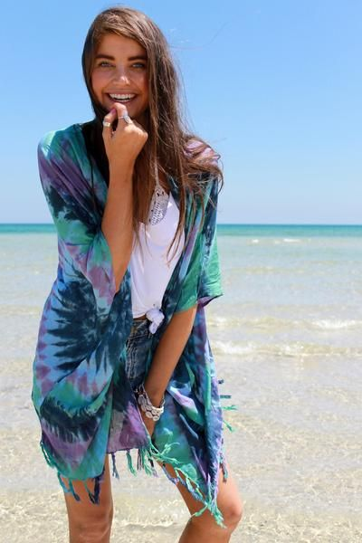 We LOVE Tie Dye & the CLASSIC KIMONO TIE DYE REEF